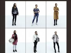 22个女性形象3D模型