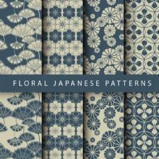 藍色春季花卉紋理背景集