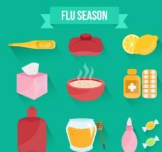 流感季图标