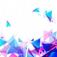 2017创意三角形元素重叠透明H5背景