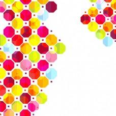2017创意八边形点状元素H5背景