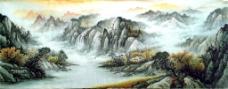 磅礴山水装饰画