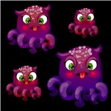手绘可爱的大章鱼