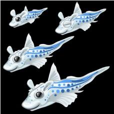手绘的海底鱼类