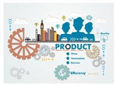 业务产品概念扁平插画
