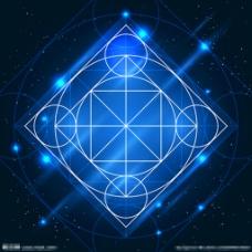 蓝色背景 蓝色几何背景图片