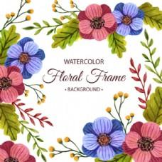 水彩春季花卉海报