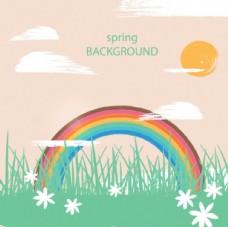 春季花草彩虹插图