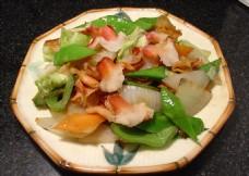贝尖炒蔬菜