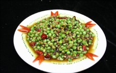 橄榄菜炒碗豆