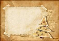 圣诞树相框背景图片