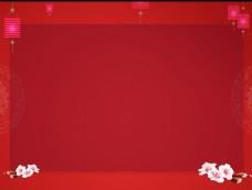 红色中国风背景