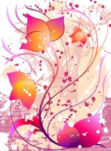 花纹花瓣抽象背景