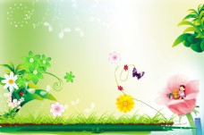 春天展板背景