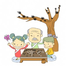 学弈围棋插画
