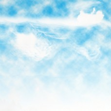 蓝天白云烟雾