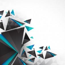 2017创意三角形碎片元素H5背景