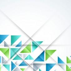 2017创意三角形元素H5背景