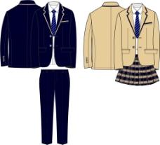西装模板西装设计校服工装设计