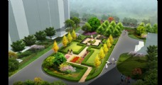 城市绿化景观设计效果图