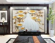 花瓶装饰背景墙
