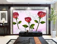 玫瑰装饰背景墙
