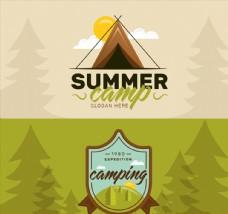 2款夏季野營banner素材