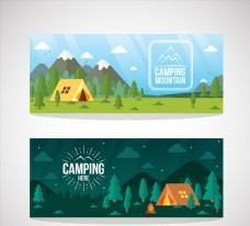 2款郊外野營帳篷風景banne