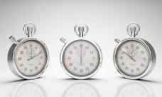三个金属秒表图片