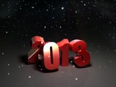 2013立体字素材图片