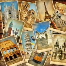 复古旅行照片图片