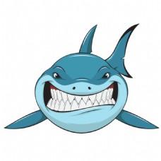 露齿微笑的大鲨鱼