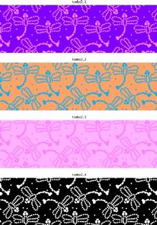 蜻蜓花纹素材
