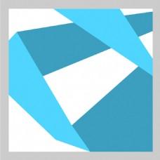2017蓝色创意折纸效果H5背景