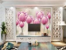花苞装饰背景墙