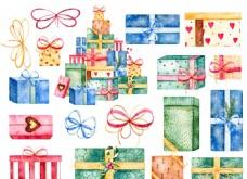 手繪禮物盒子18個圖層