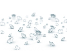 散落的钻石摄影图片