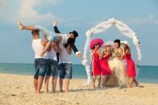 沙滩婚礼高清摄影图片图片