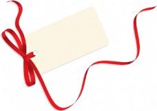彩色丝带向量空白标签