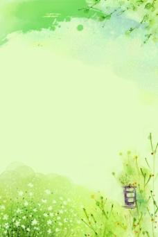 春季插画背景