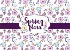 春季手绘花卉背景