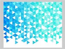 2017蓝色创意三角形组合元素H5背景