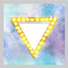 2017创意三角形霓虹灯元素H5背景