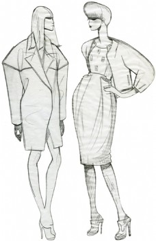 2款时尚女装设计图