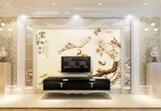 树枝背景墙