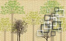 3D背景树