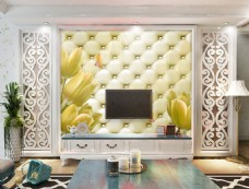 皮纹装饰元素背景墙