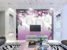 花卉边框装饰背景墙