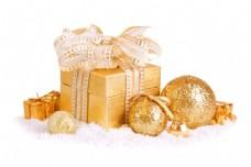 圣诞球与圣诞礼物图片