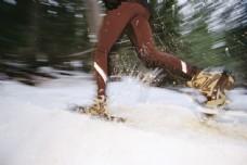 高山滑雪摄影图片
